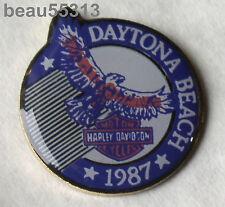 HARLEY DAVIDSON DAYTONA BEACH 1987 HOG HEAVEN VEST JACKET HAT PIN