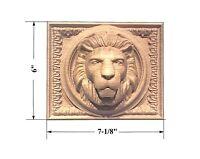 Lion Head Rectangular Rosette /aplique 7-1/8 X 6 X 2-5/8. Red Oak, Cherry...