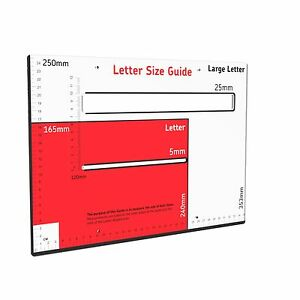 Royal mail postal template size guide postage package ruler post image is loading royal mail postal template size guide postage package spiritdancerdesigns Gallery