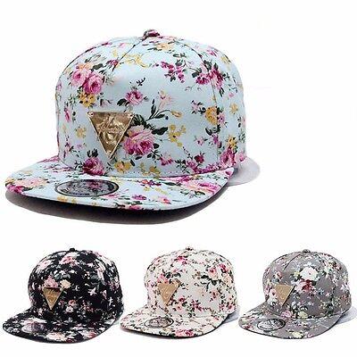 Floral Flower Snapback Men Women Hip-Hop Hat Flat Peaked Baseball Adjustable Cap