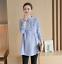 Pregnant-Women-Cotton-Linen-Casual-Shirt-Tops-Pregnancy-Maternity-Clothes-Blouse thumbnail 4