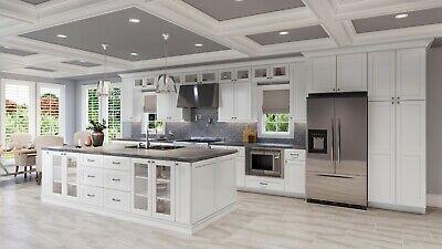 Fully Assembled 10X10 Modern Shaker White Kitchen Cabinets ...