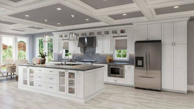 RTA Wood 10X10 Classic Modern Shaker White Kitchen ...