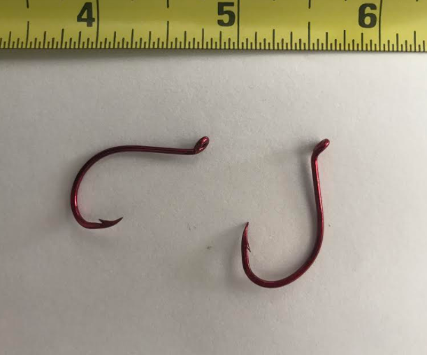 100 Matzuo 130060 Red Live Bait O/'Shaughnessy Fish Fishing Hooks size 4