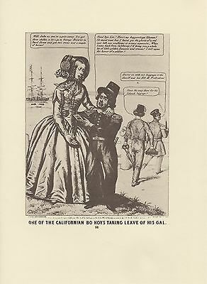 """1976 Vintage CALIFORNIA /""""ONE OF THE CALI BO HOYS LEAVING HIS GAL/"""" Lithograph 98"""
