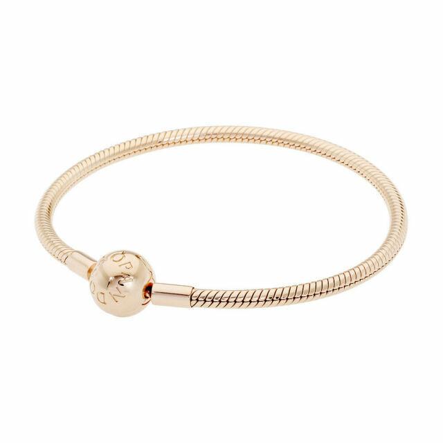 PANDORA 7.5 inch Smooth Rose Clasp Bracelet - Pink