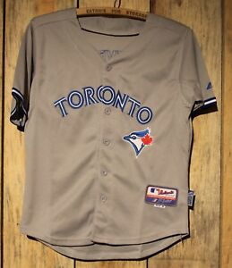 pretty nice 3a579 3438d Details about Toronto Blue Jays Reyes Majestic Youth / Women Official  Player Cool Base Jersey