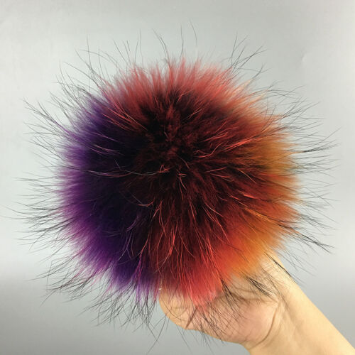 8 Colors Ussuri RACCOON Fur Ball Hat for Leather Shoes Accessories Pom Pom Ball
