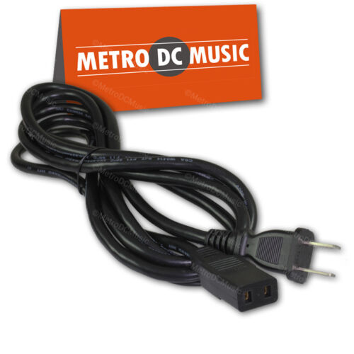 Square 2-Prong IEC C9 to NEMA 1-15P Power Cord 8 feet NEW Roland Brother