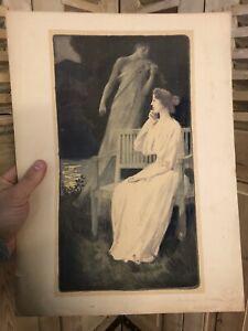 Auguste-Francois-GORGUET-Andante-Nocturne-Estampe-Gravure-Lithographie-Ancien