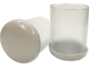 Furniture Glides for Carpet 5 Round Sizes Clear Sleeve Slip On Slider Bottom