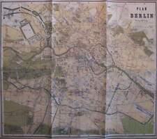 Stadtplan Berlin 1869 / 70 Plan Karte Eingemeindungen Residenzstadt Kartographie