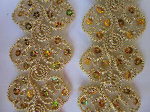 1-Meter-Gold-Spitze-4-4cm-breit-Borte