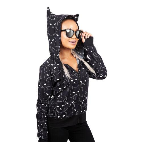 Jawbreaker Grumpy Kitty Cat Salem Gothic Alternative Punk Womens Black Hoodie
