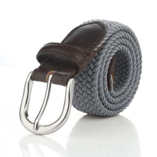 Gelante Children/'s Kids Child Canvas Elastic Fabric Woven Stretch Braided Belts