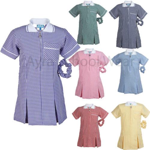 3 a 20 SCUOLA ESTIVA Gingham Girls Dress grande dimensione disponibile anche in età -
