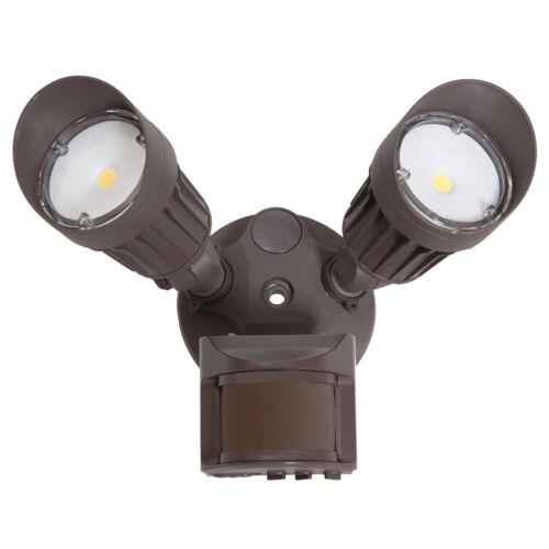 1800 Lumens Motion Sensor 5000K Brown Maxxima 2 Head Outdoor LED Security Light