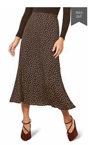 NWT $148.00 Reformation Bea Skirt  Midi Size 2 10