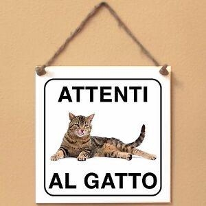 Gatto-europeo-4-Attenti-al-gatto-Targa-gatto-cartello-ceramic-tiles