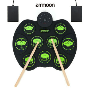 ammoon-Portable-Digital-Electronic-Roll-Up-Drum-Set-With-Drumsticks-Foot-Pedals