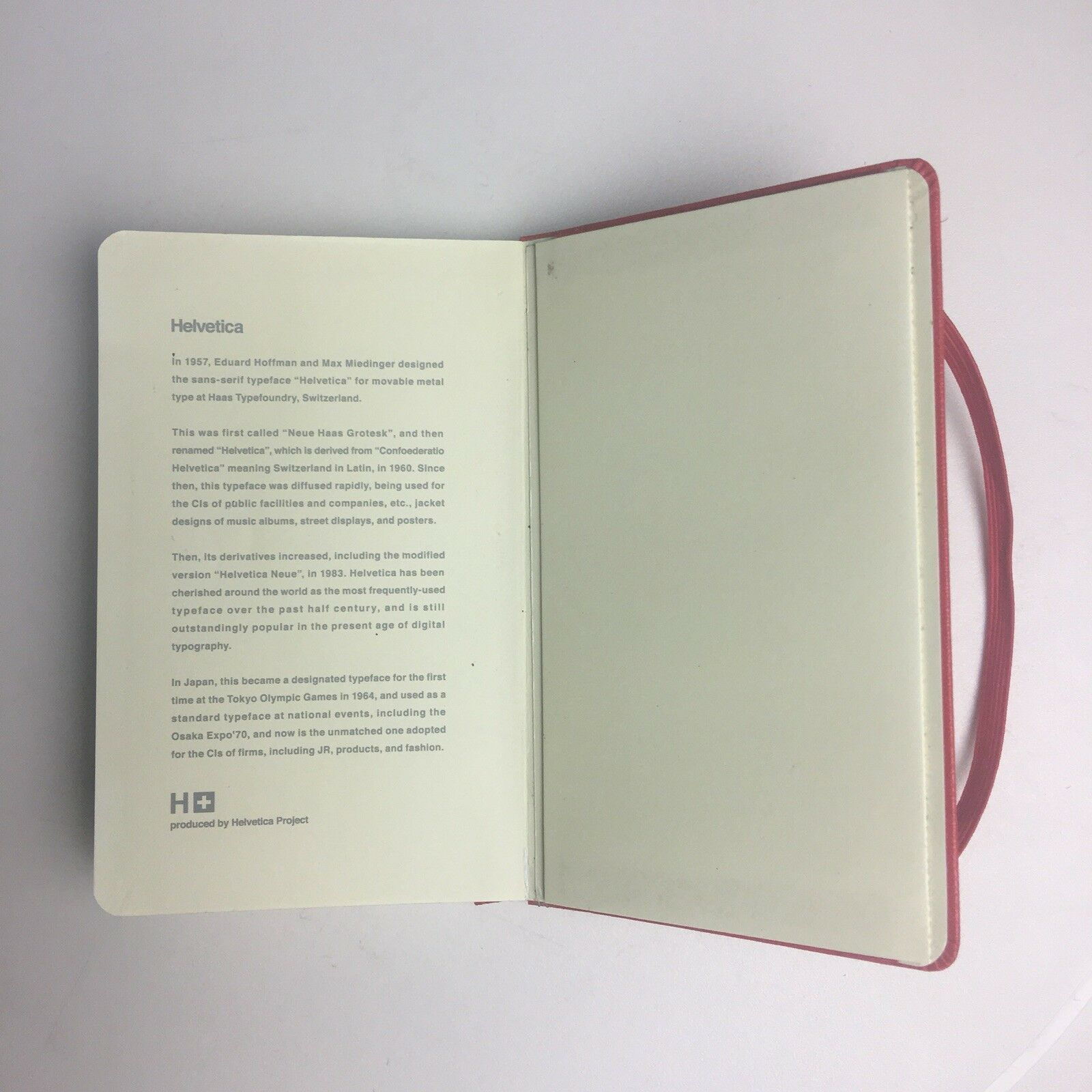 Moleskine Notebook Limited Edition Helvetica