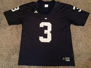 Adidas Joe Montana  3 Football Jersey Fighting Irish Notre Dame Vtg ... 8285cadcf