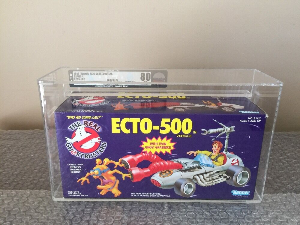 1989  Kenner The Real Ghostautoautobusters  ECTO-500  Qualified AFA 80 WOW guarda   presa di marca