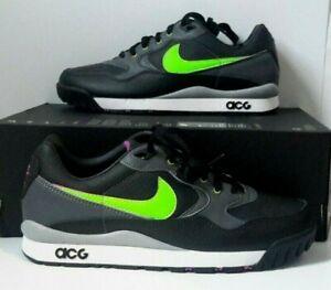 huge discount 11a82 2c547 Image is loading Nike-Air-Wildwood-ACG-Black-Electric-Green-Mens-