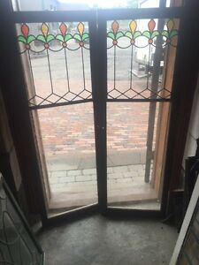 Innovative Leaded Glass Cabinet Doors Exterior