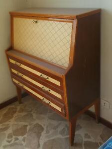 Ribalta comò secretair degli anni 50 raro design cassettiera Dassi? specchio