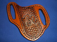 Custom Made Leather Knife Sheath Pancake Cross Draw Buck 110 Case Scabbard L