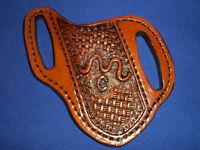 Custom Made Leather Knife Sheath Pancake Cross Draw Buck 110 Case Scabbard L