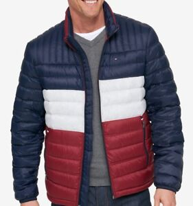 777d3bab2 Details about Tommy Hilfiger Men's Packable Puffer Down Jacket - Multi  Color - XXL