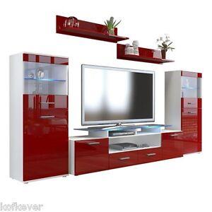 Mobile soggiorno moderna Agata V2 sala porta tv parete hi fi luci ...