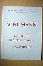 Philharmonia Concert Pro 1959-SCHUMANN-D. FISCHER DIESKAU,GERALD MOORE~Royal Hal