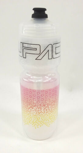 NEON PINK//YELLOW BPA FREE 26oz SUPACAZ PURIST STARFADE BICYCLE WATER BOTTLE