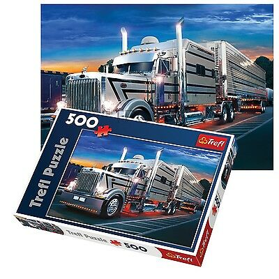Trefl 500 Piece Adult Large Silver Truck Night Drive Floor Jigsaw Puzzle NEW