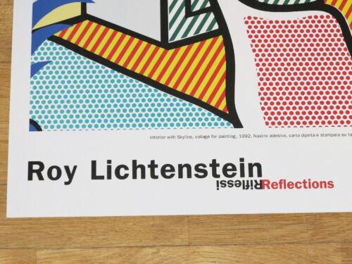 """ROY LICHTENSTEIN POSTER /"""" INTERIOR WITH SKYLINE /"""" REFLECTIONS POP ART in MINT"""