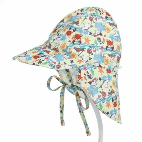 Baby Sonne Hut Verstellbar Sommer Kappe für Jungen oder Mädchen SPF 50 Schutz