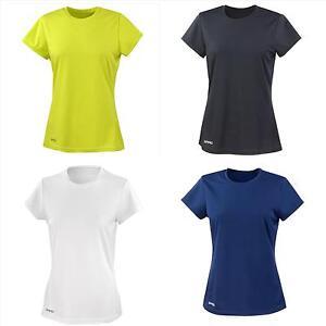 Donna-t-shirt-manica-corta-asciugatura-veloce-sport-allenamento-Spiro