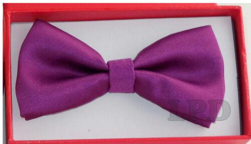 Kids Tuxedo PURPLE Bow Tie  Adjustable BowTie Fashion For Children New NeckTie