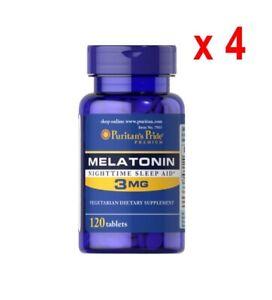 Melatonin-Puritan-039-s-Pride-3mg-120-tabletten-Bester-Preis