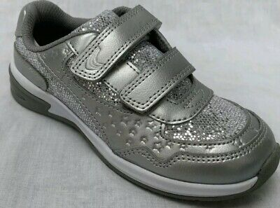 Clarks Piper Play Silver Leather Lights