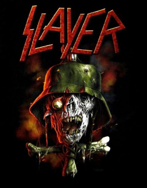 SLAYER cd lgo SOLDIER CROSS Official Black SHIRT Size MED new
