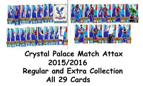 Extra 2015//2016 29 x Crystal Palace Cards Base Team Set 15//16 sets Match Attax
