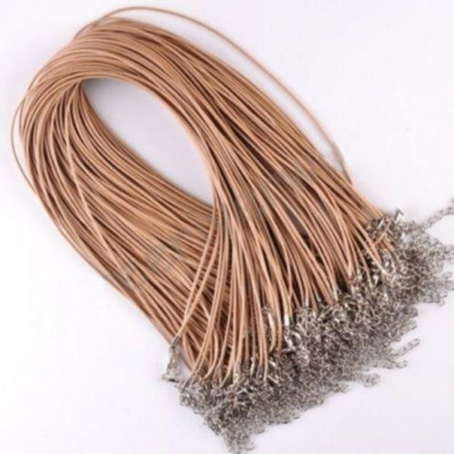 10Pcs 1.5mm Real Leather Rope Necklace String Cord Findings Adjustable Chain Hot