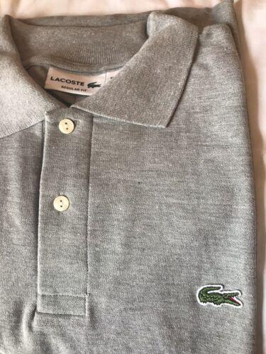 Regular Fit NEW Lacoste Men/'s Polo Shirt in Light Gray Size 5 Medium