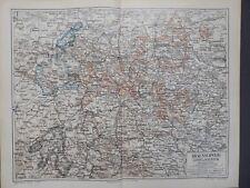 Landkarte Deutschland, Braunschweig, Lippe und Waldeck, Meyer 1896