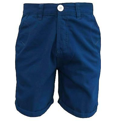 Soul Star Men's Melton Shorts Button Fly Royal Blue