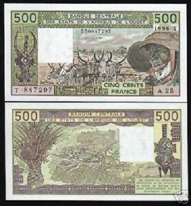 WEST AFRICAN STATE WAS TOGO 500 FRANCS 2014 P 819T UNC LOT 5 PCS